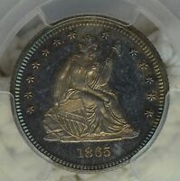 1865 25C PCGS PR65 LAST YEAR OF CIVIL WAR