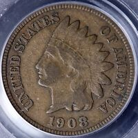 1908 S INDIAN HEAD CENT PCGS F15 7 5TLM