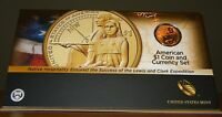 2014 D SACAGAWEA DOLLAR ENHANCED FINISH AMERICAN COIN AND CURRENCY SET