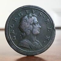 GEORGE I HALFPENNY 1724. R/R IN GEORGIVS.
