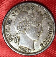 1899 10C BARBER DIME  COLLECTION QUALITY
