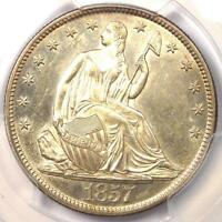 1857 O SEATED LIBERTY HALF DOLLAR 50C WB 103 RPD   PCGS UNCIRCULATED UNC MS