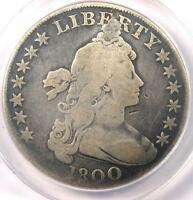 1800 DRAPED BUST SILVER DOLLAR $1   CERTIFIED ANACS G4 DETAILS    COIN