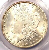 1880 MORGAN SILVER DOLLAR $1   ANACS MS64    DATE IN MS64   NICE COIN