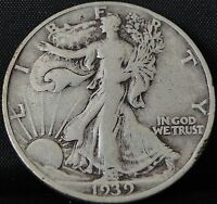 CIRCULATED 1939 S WALKING LIBERTY HALF DOLLAR 2