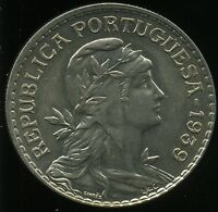 D D PORTUGAL REPUBLIC   1 ESCUDO 1939