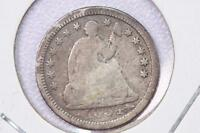 1854 H10C LIBERTY SEATED HALF DIME V.G. COIN. DATE IN ROCK VARIETY. SALE 2184
