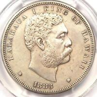 1883 HAWAII DOLLAR $1   PCGS AU DETAILS    CERTIFIED SILVER COIN