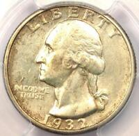 1932 D WASHINGTON QUARTER 25C   CERTIFIED PCGS AU58    KEY DATE   $675 VALUE