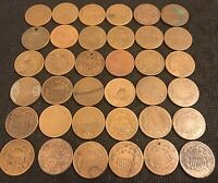 36 TWO CENT PIECES 1864-1869