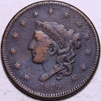 1836 LARGE CENT R11TF