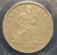 1877 HIGH GRADE SEATED HALF ORIGINAL ATTRACTIVE NICE TYPE COIN WHOLESAL PRICED