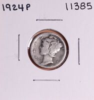 1924 P SILVER MERCURY DIME 11385 GOOD