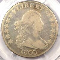 1803 DRAPED BUST HALF DOLLAR 50C - PCGS FINE DETAILS -  CERTIFIED COIN