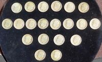 EISENHOWER DIME ESTATE COLLECTION 1946 1949 20 COINS   90 SILVER