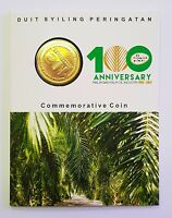 MALAYSIA 2017 100TH ANNIV OF THE MALAYSIAN PALM OIL NORDIC GOLD COIN  B.U.