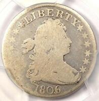 1806/5 DRAPED BUST QUARTER 25C   PCGS VG DETAILS    OVERDATE CERTIFIED COIN