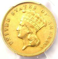 1878 THREE DOLLAR INDIAN GOLD PIECE $3   CERTIFIED PCGS VF DETAIL    COIN