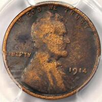 1914 D LINCOLN WHEAT CENT 1C   PCGS FINE DETAILS    KEY DATE CERTIFIED PENNY