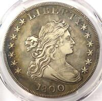 1800 DRAPED BUST SILVER DOLLAR $1   CERTIFIED PCGS XF DETAILS EF    COIN