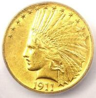 1911 D INDIAN GOLD EAGLE $10 COIN   CERTIFIED ICG MS60 UNC   $9,600 VALUE