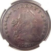 1799/8 DRAPED BUST SILVER DOLLAR $1 BB 141 B 3   NGC VG DETAILS    COIN