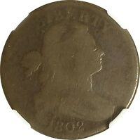 1802 DRAPED BUST LARGE CENT  STEMLESS WREATH NGC G4   S 241  R1 ITEM  701SH