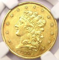 1835 CLASSIC GOLD HALF EAGLE $5   NGC AU DETAILS    CERTIFIED GOLD COIN