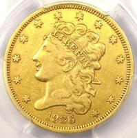 1836 CLASSIC GOLD HALF EAGLE $5   PCGS XF DETAIL    EF CERTIFIED GOLD COIN