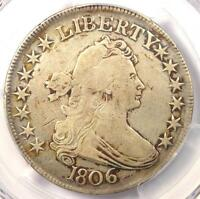 1806 DRAPED BUST HALF DOLLAR 50C   PCGS VF DETAIL    CERTIFIED COIN