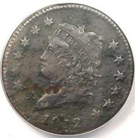1812 CLASSIC LIBERTY LARGE CENT 1C - ANACS VF35 DETAILS -  DATE PENNY