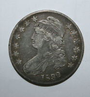 1832 CAPPED BUST SILVER HALF   E14
