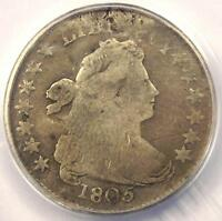 1805 DRAPED BUST DIME 10C COIN JR-2 - CERTIFIED ANACS VG8 DETAILS -  DATE