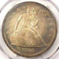 1846-O SEATED LIBERTY SILVER DOLLAR $1 MINT ERROR ROTATED DIES - PCGS EXTRA FINE  EF