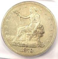 1873 CC TRADE SILVER DOLLAR T$1. ICG AU50    CARSON CITY COIN   $3,250 VALUE