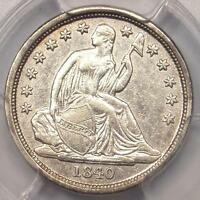 1840-O SEATED LIBERTY DIME 10C NO DRAPERY - PCGS AU DETAILS - $1,000 IN AU50