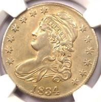 1834 CAPPED BUST HALF DOLLAR 50C O-105 VARIETY - CERTIFIED NGC AU DETAILS
