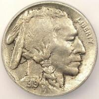 1919-D BUFFALO NICKEL 5C - ICG EXTRA FINE 40 DETAILS -  DATE CERTIFIED COIN