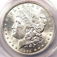 1894 MORGAN SILVER DOLLAR $1 1894-P. CERTIFIED ANACS MINT STATE 60 BU UNC - $3810 VALUE