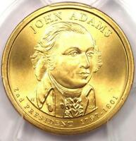 2007-P JOHN ADAMS SATIN DOLLAR $1 COIN - PCGS MINT STATE 69 -  GRADE - $325 VALUE