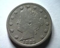 1883 WITH CENTS LIBERTY NICKEL FINE / FINE F/VF  ORIGINAL COIN BOBS COIN