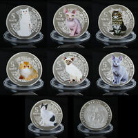 WR 2015 VANUATU CAT 5 VATU 999 SILVER COIN SET COMMEMORATIVE ANIMAL COLLECTIBLES