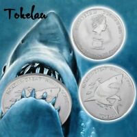 WR 2015 TOKELAU GREAT WHITE SHARK $5 1OZ  SILVER COIN QUEEN ANIMAL BIRTHDAY GIFT