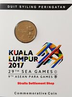MALAYSIA 2017 29TH SOUTHEAST ASIAN GAMES SEA GAMES NORDIC GOLD COIN B.U.