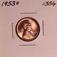 1953 D LINCOLN WHEAT CENT 1556, GEM - FREE-SHIPPING