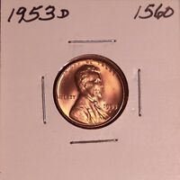 1953 D LINCOLN WHEAT CENT 1560, CHOICE - FREE-SHIPPING
