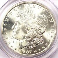 1887-S MORGAN SILVER DOLLAR $1 - PCGS MINT STATE 65 -  IN MINT STATE 65 GRADE - $1,900 VALUE
