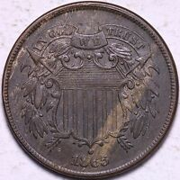 AU 1865 2 CENT PIECE R7WEH