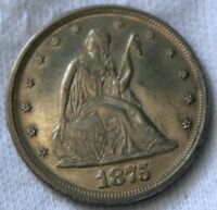 1875 P TWENTY 20 CENT COIN.  MS GEM UNCIRCULATED UNC.AWESOME