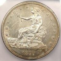 1877 S TRADE SILVER DOLLAR T$1   ICG MS60 DETAILS    CERTIFIED UNC BU COIN